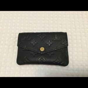 Empreinte leather key pouch